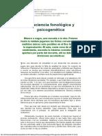 Conciencia Fonologica Y Psicogenetica