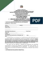 PRUEBAS DIAGNOSTICAS TEMÁTICA (ÁREA DE LENGUA ESPAÑOLA Y LITERATURA) (1)