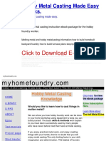 Hobby Metal Casting Made Easy - - Melting Metal And Hobby Metalcasting Information How To Build Homebuilt Backyard Foundry How To Build Furnace Plans Step By St