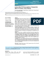 Analysis of the Association Hind III Polymorphism of Lipoprotein
