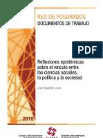 Reflexiones epistémicas vinculo ciencias sociales y sociedad