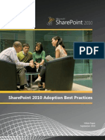 Share Point 2010 Adoption Best Practices Whitepaper