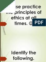 Quiz 1 Ethics