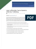 417. Eight Rothschilds Tied to Epstein's Child Sex Trafficking