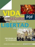 Programa de las Jornadas de los Derechos Humanos en Paraguay 2010