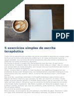 5 exercícios simples de escrita terapêutica