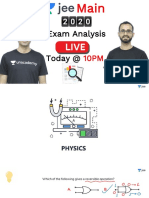 JEE Main 2020 Live Analysis - Jan 7 -2020 (1)