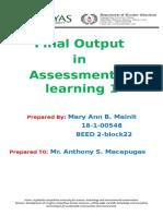 Assessment for learning 1