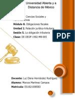Módulo 8. Obligaciones fiscales Unidad 2. Relación jurídico-tributaria Sesión 5. La obligación tributaria