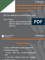 CCNA Short Course - Week 1