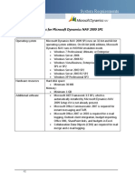 Microsoft Dynamics NAV2009 System Requirements