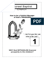 How to be a Faithful Manager of God's Treasure lesson1
