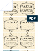The Family Proclamation Cards