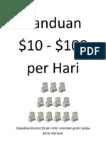 $10 - $100 / Hari Gratis Tanpa Menjual