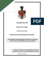 Asp Art Abreu - As Principais Reorganizações do Exército do Século XVIII ao Século XXI. Reflexos