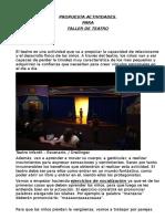 PROPUESTA ACTIVIDADES PARA TALLER DE TEATROodt.odt