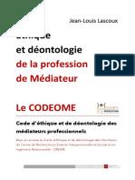 CODEOME - Ethique et déontologie des médiateurs et du CREISIR