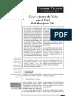 Condiciones de Vida en el Perú 2010