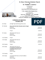 12. Schedule of Divine Services - December, 2010