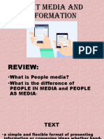 TEXT AND MEDIA