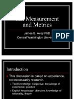 HR Measurement and Metrics