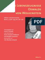 Die Lebenszeugnisse Oswalsds von Wolkenstein