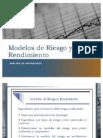 Modelos de Riesgo y Rendimiento
