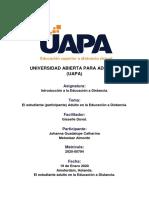 Tarea II, Introducción a la Educación a Distancia. UAPA