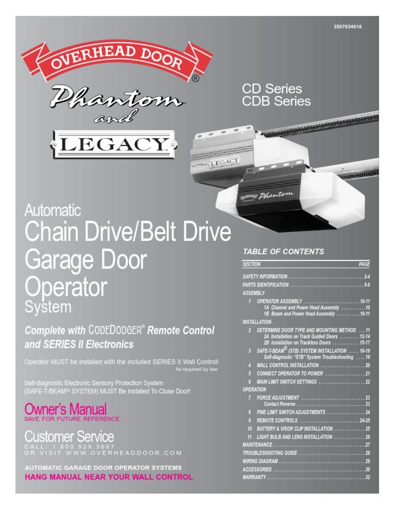 legacy garage door openerOverhead Garage Door Legacy Troubleshooting