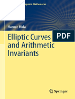 Hida Elliptic Curves and Arithmetic Invariants