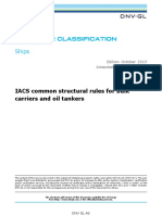 DNVGL-RU-SHIP-CSR IACS common structural rule for bulk carrier and oil tanker