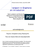 Low-Bias Transport in Graphene:an introduction