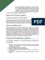 LITERATURA ESPAÑOL
