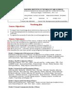 18EC2028 teaching plan in format