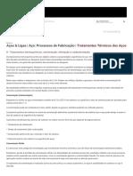 8 - Tratamentos termoquímicos_ cementação, nitretação e carbonitretação _ Tratamentos Térmicos dos Aços _ Aço_ Processos de Fabricação _ Aços & Ligas _ Infomet