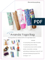 ANANDA Yoga Bag pattern