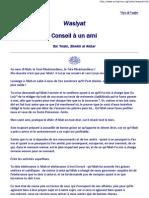 [Soufisme][Ibn FR Conseil a Un Ami - Extrait - Soufisme