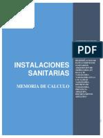 MEMORIA INSTALACIONES SANITARIAS