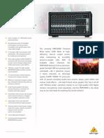 Beh PMP2000D Mixer brochure