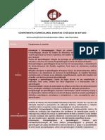 Ementa Pós Psicopedagogia Clínica Institucional Faculdade Adventista da Bahia