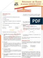 Solucionario Razonamiento Matematico UNASAM 2009 - I