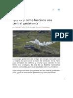 Qué es y cómo funciona una central geotérmica