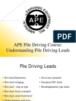 School Part 2 - Pile Driving Leads