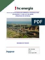 RNT Energia combustion, residuos o biomasa