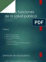 Áreas y funciones de la salud pública