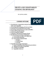 FP 313 FRUITS AND VEGETABLES PROCESSING TECHNOLOGY