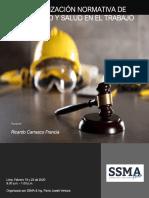 Actualización Normativa de Seguridad y Salud en el Trabajo