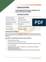 Convocatoria_Recepcionista