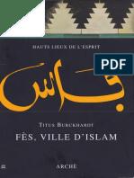 Titus Burckhardt - Fès Ville D_Islam