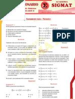 Solucionario Razonamiento Matematico UNASAM 2009 - II